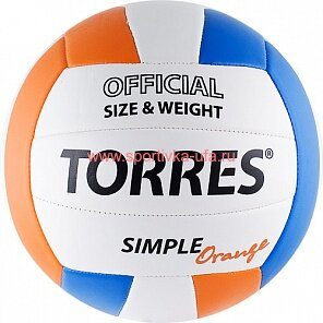 Мяч Torres Simple Orange V30125 р. 5