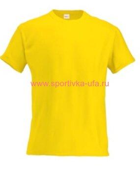 Футболка х/б желтая 180 гр/м2