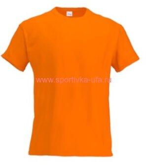Футболка х/б оранжевая 180 гр/м2