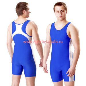 Трико борцовское синее