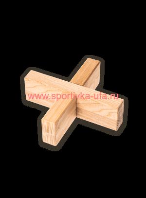 Пазл-головоломка Крест вертушка из дерева