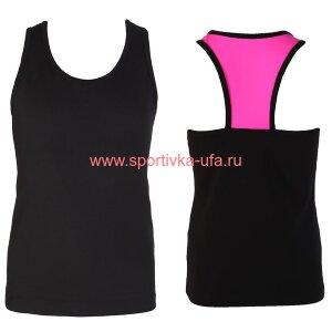 Топ 4881413 черный/розовый