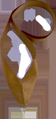 Лента бронза (атласная)