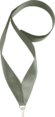 Лента серебро (атласная)