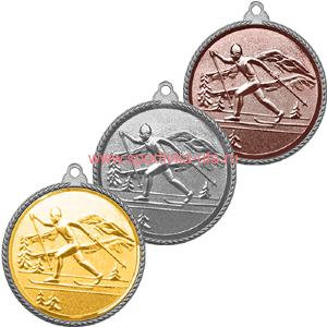 Комплект медалей 3372-100 Лыжи д=55 мм